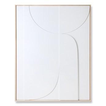 Artystyczna rama z kompozycją rzeźbiarską biała bardzo duża, HKliving