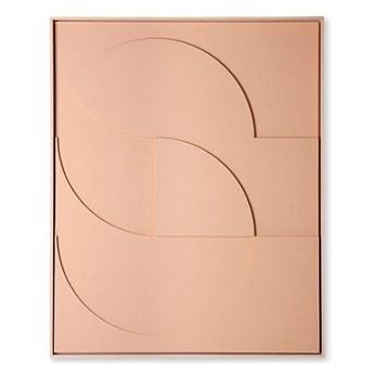 Artystyczna rama z kompozycją rzeźbiarską brzoskwiniowa duża, HKliving