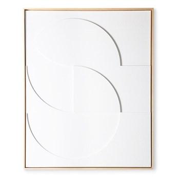 Artystyczna rama z kompozycją rzeźbiarską biała duża, HKliving