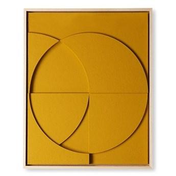 Artystyczna rama z kompozycją rzeźbiarską ochra mała HKliving