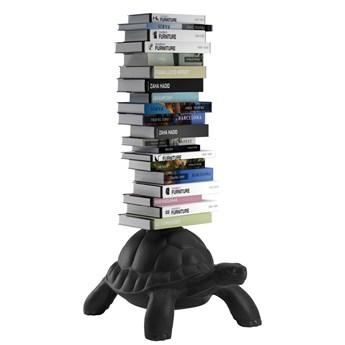 Regał na książki czarny Turtle Carry, QeeBoo