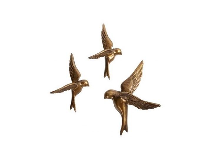 Komplet 3 metalowych ptaków dekoracyjnych, Be Pure Home