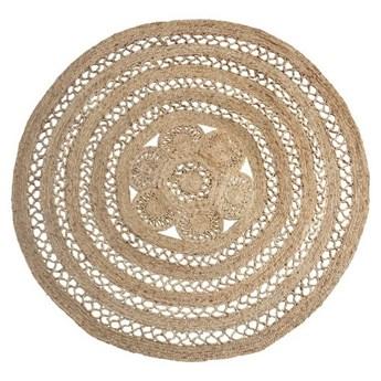 Okrągły dywan z plecionej juty 180 cm, Madam Stoltz