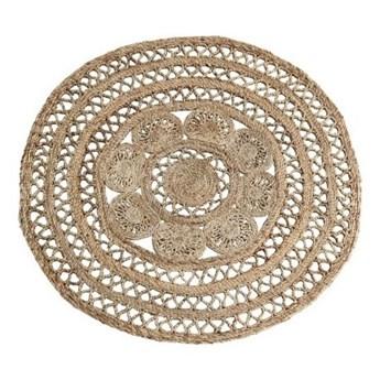 Okrągły dywan z plecionej juty 120 cm, Madam Stoltz
