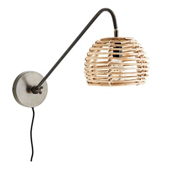 Lampa ścienna bambusowa, Madam Stoltz