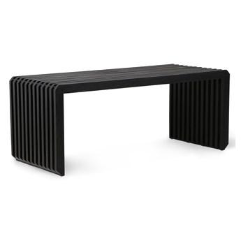 Element do kanapy Jax, czarna ławka z listew, HKliving