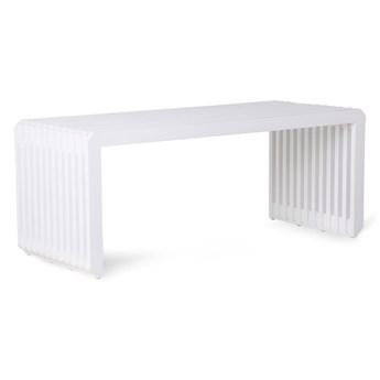 Element do kanapy Jax, biała ławka z listew, HKliving