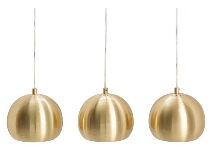 Lampa wisząca Golden Ball 3 elementy, złota, Interior Space Lampa inspirowana Lampa kula Pomieszczenie Jadalnia Styl Nowoczesny
