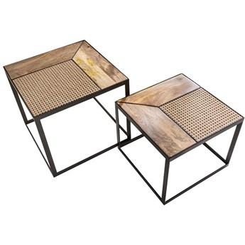 Zestaw stolików kawowych Vienna Lounge mango 2 szt. Interior Space