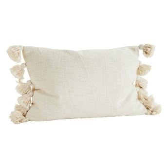 Poszewka na poduszkę z frędzlami, ecru, Madam Stoltz