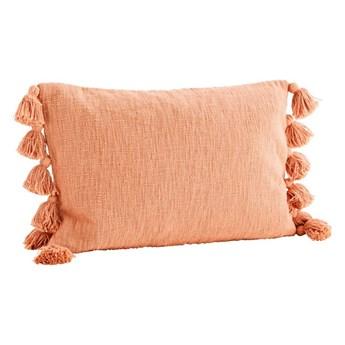Poszewka na poduszkę z frędzlami, pomarańczowa, Madam Stoltz