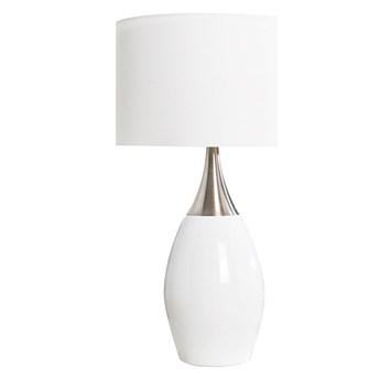 Lampa stołowa Carla biała 60 cm, Interior Space