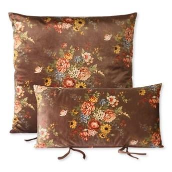 Aksamitny zestaw poduszek do sofy z motywem kwiatowym, HKliving