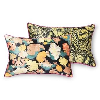 Satynowa poduszka retro z motywem kwiatowym, HKliving