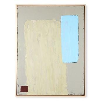 Abstrakcyjny obraz w odcieniach pistacji i błękitu, HKliving