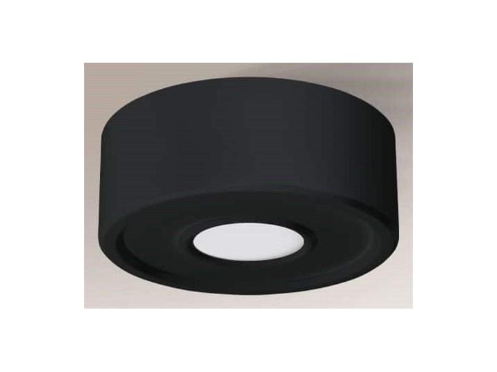 Okrągła oprawa metalowa ENA IL czarna, Shilo Oprawa stropowa Kolor Czarny Okrągłe Kategoria Oprawy oświetleniowe