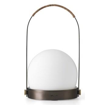 Lampa LED CARRIE na USB, szczotkowany brąz, Menu
