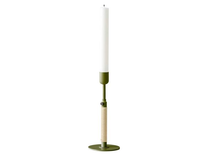 Świecznik Duca, zieleń + rattan, MENU Metal Kategoria Świeczniki i świece