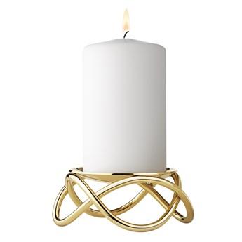 Świecznik Glow, złoty, Georg Jensen