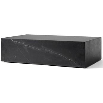Niski marmurowy stolik Plinth, czarny, MENU