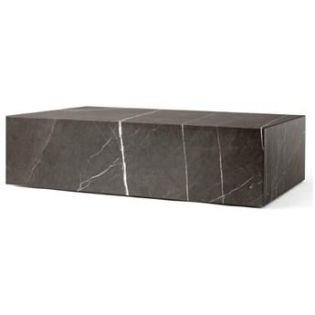 Niski marmurowy stolik Plinth, brązowy, MENU