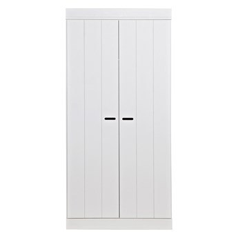 Biała 2-drzwiowa szafa Connect, Woood