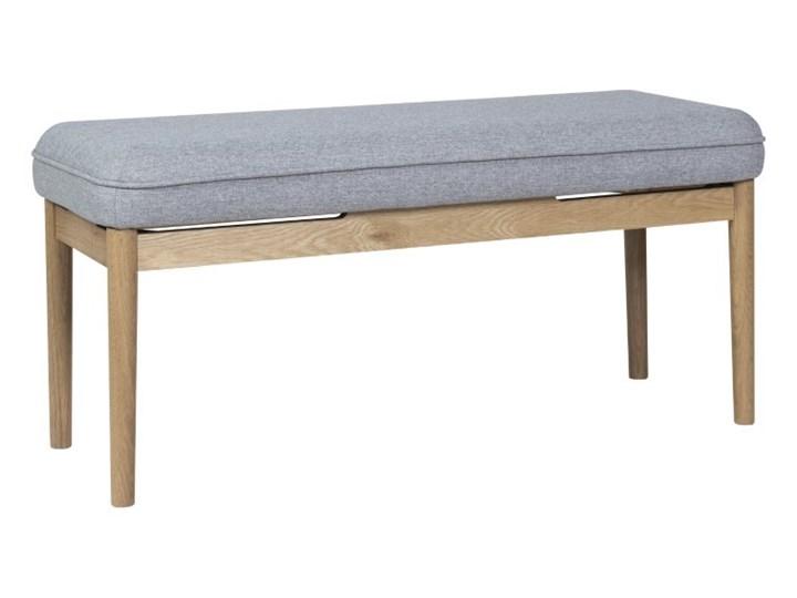 Dębowa ławka Elise z poduchą 100 cm, Hübsch Kategoria Ławki do salonu Styl Minimalistyczny
