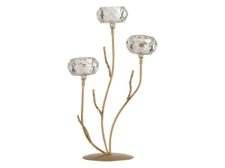 Kryształowy świecznik tealight Glitter M, J-Line Szkło Kategoria Świeczniki i świece