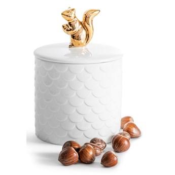 Świąteczny pojemnik z wiewiórką, biały, Sagaform Winter