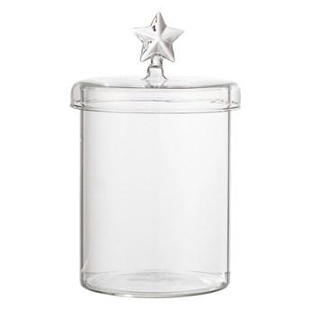 Szklany pojemnik świąteczny gwiazdka, przezroczysty, Bloomingville