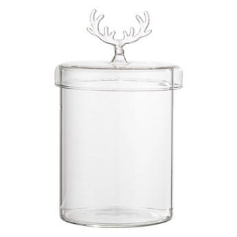 Szklany pojemnik świąteczny renifer, przezroczysty, Bloomingville
