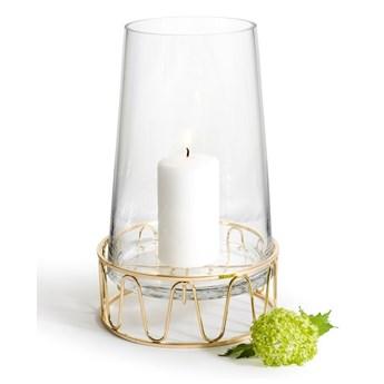 Szklany świecznik / wazon ze złotą podstawą, Sagaform Winter