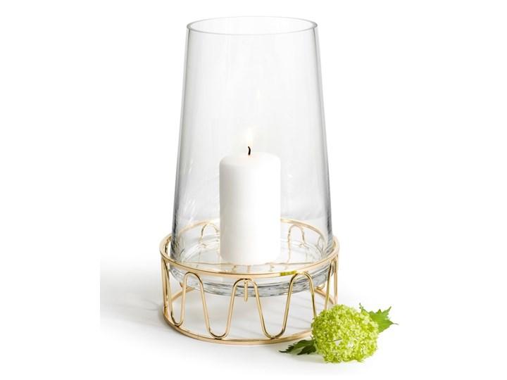 Szklany świecznik / wazon ze złotą podstawą, Sagaform Winter Szkło Kolor Złoty