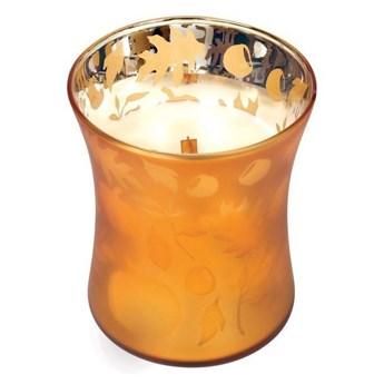 Średnia świeca zapachowa Dancing Hourglass Pumpkin Butter, WoodWick