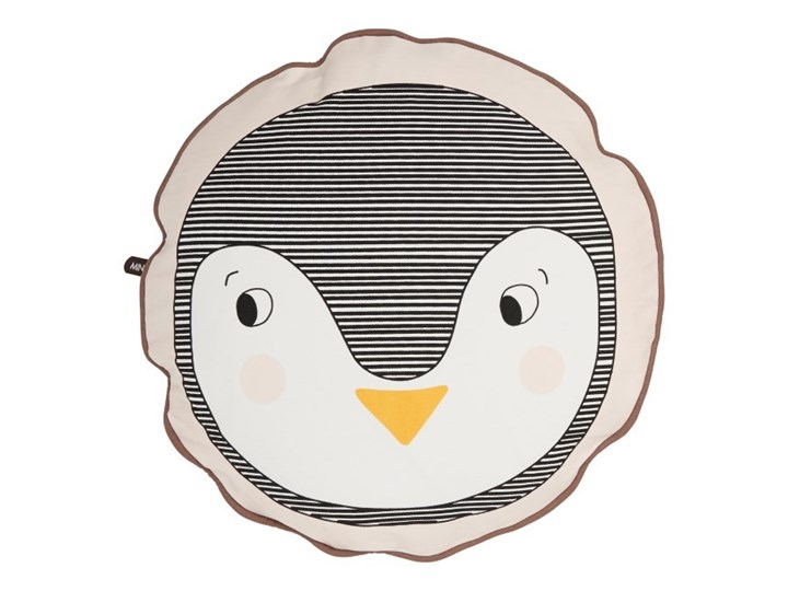 Okrągła poduszka Pingwin OYOY Poduszka dekoracyjna Kategoria Poduszki i poszewki dekoracyjne Okrągłe Bawełna Wzór Z nadrukiem