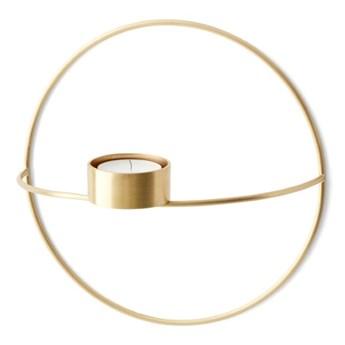 Świecznik ścienny POV Circle tealight Ø20cm, mosiądz, Menu
