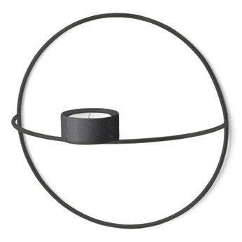 Świecznik ścienny POV Circle tealight Ø20cm, czarny, Menu