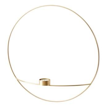 Świecznik ścienny POV Circle tealight Ø44cm, mosiądz, Menu