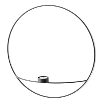 Świecznik ścienny POV Circle tealight Ø44cm, czarny, Menu