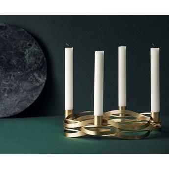 Złoty świecznik na święta Tangle, Stelton Christmas