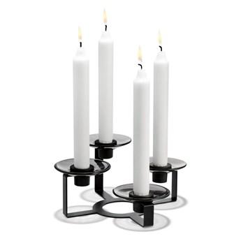 Czarny świecznik na 4 świeczki LUMI, Holmegaard