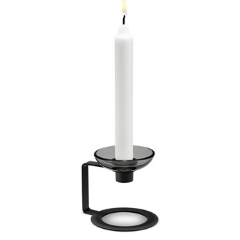 Czarny świecznik LUMI 9cm, Holmegaard