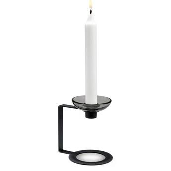 Czarny świecznik LUMI 12cm, Holmegaard