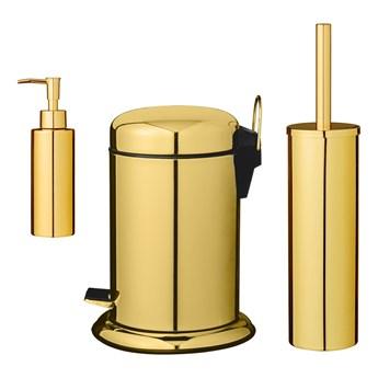 Złoty komplet łazienkowy, 3 el.,Bloomingville
