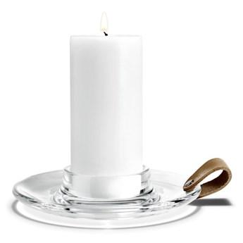 Świecznik ze szkła Ø19cm, Holmegaard
