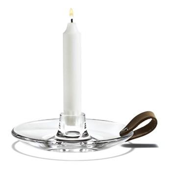 Świecznik ze szkła Ø 16 cm, Holmegaard