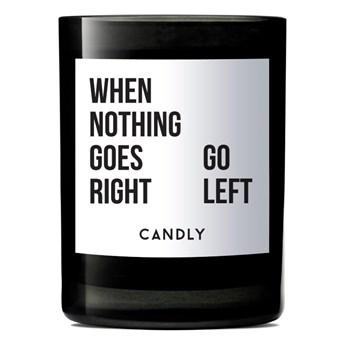 Świeca zapachowa geranium i kadzidło, When Nothing Goes Right, Candly