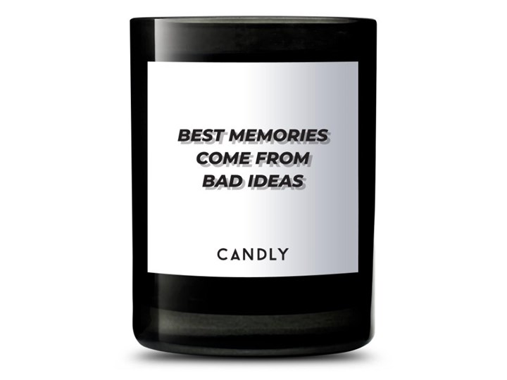 Świeca zapachowa werbena i cytryny amalfi, Best memories come from bad ideas, Candly