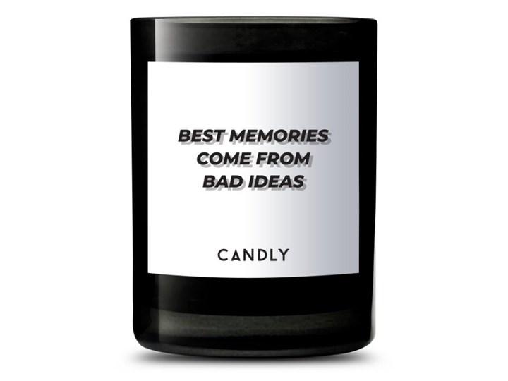 Świeca zapachowa werbena i cytryny amalfi, Best memories come from bad ideas, Candly Szkło Kategoria Świeczniki i świece