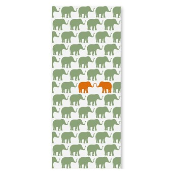 Tapeta dla dzieci Pomarańczowe słonie, Humpty dumpty